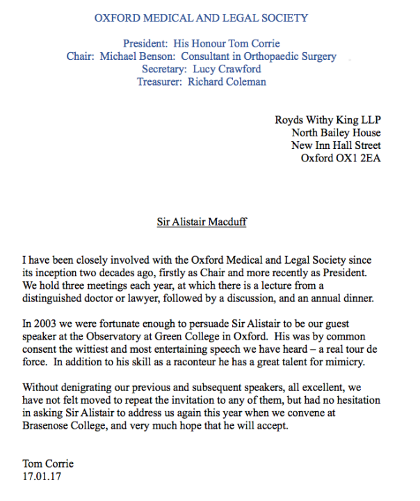 Medical-Legal Society